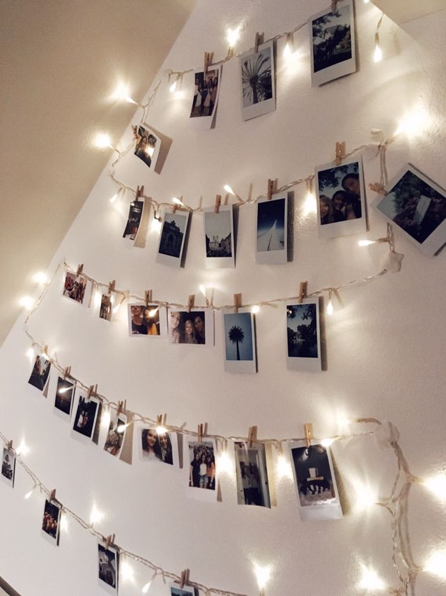 Lights Polaroid Wall Walldecor Tumblr Polaroid Wall