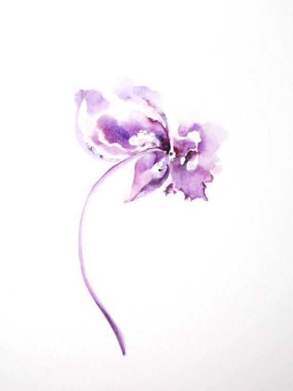 single watercolor flower - Google Search