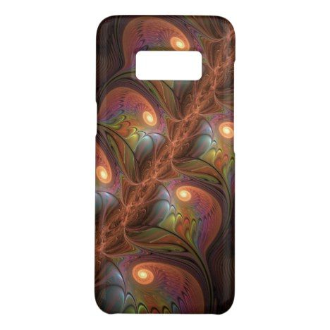 Colorful Fluorescent Abstract Modern Brown Fractal Case-Mate Samsung Galaxy S8 Case #fractal #pattern #samsung #galaxy #protective #cases