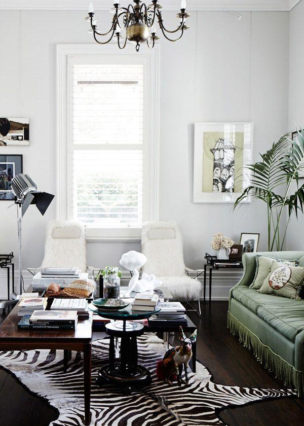 black, white + olive green via the design files