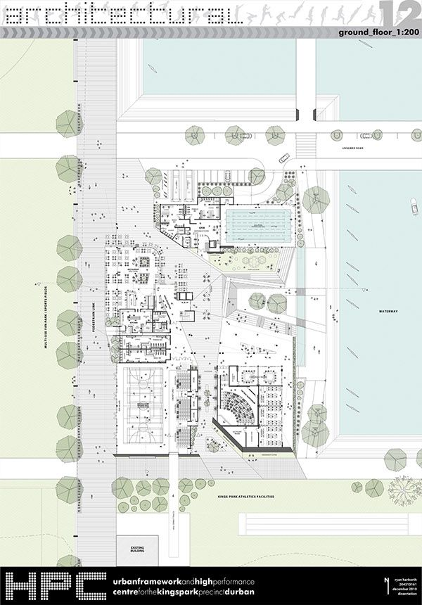 This was a proposed design for an urban framework and high performance centre for the Kings Park precinct, Durban. The urban design used the opportunity of the 2020 Olympics as a means of generating an urban framework for the Kings Park Precinct, which …