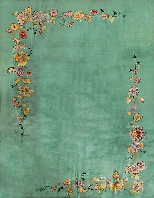 "#255 Chinese Art Deco carpet 9'0"" x 11'10"" circa 1920"