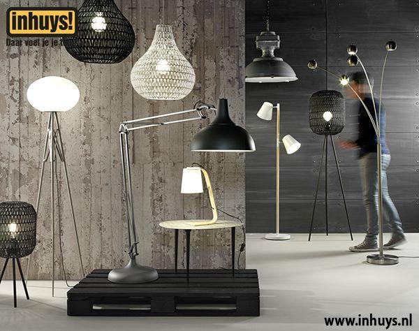 hanglampen, vloerlampen en tafellampen http://www.inhuys.nl