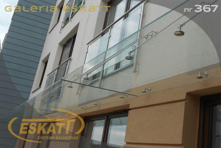 Safety glass roof and frosted glass balustradę #balustrade #eskatt #construction #roof