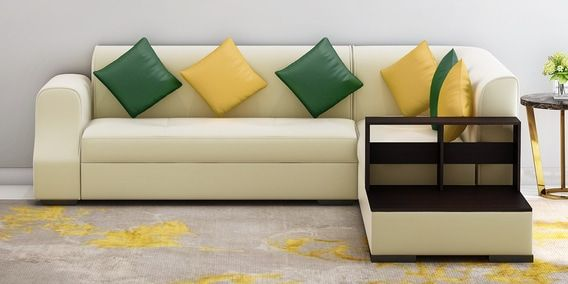 Arlo Lhs Sofa In Beige Leatherette By Muebles Casa With Images
