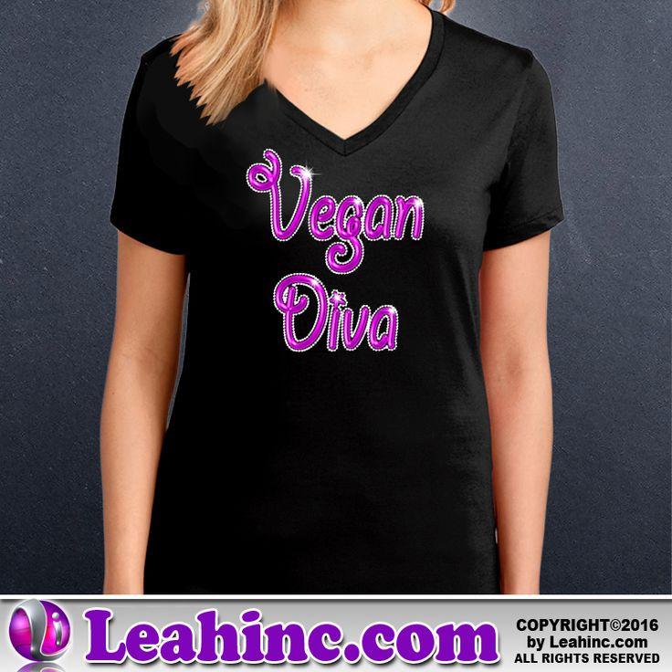 Vegan, Vegetarian, Causes, Men's, Ladies, Shirts, V-Neck, Vegan Diva