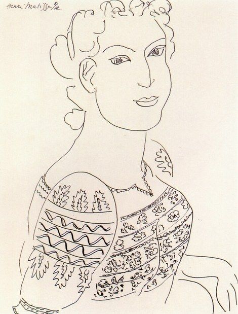 "Henri Matisse - ""The romanian blouse"""