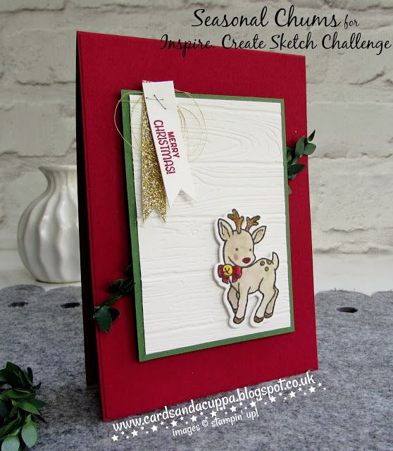 Sarah-Jane Rae cardsandacuppa: Stampin' Up! UK Order Online 24/7: Inspire. Create. Sketch Challenge #002
