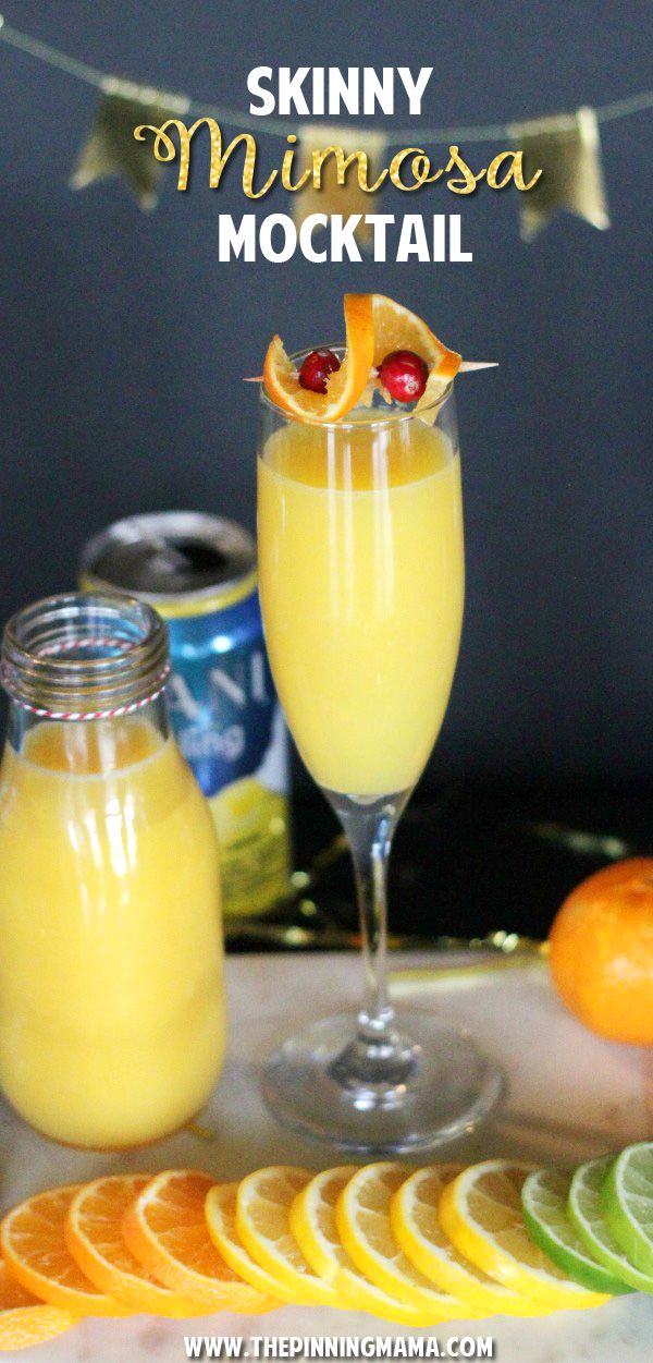 This drink is a lighter version of the classic brunch cocktail, the Mimosa!  With less calories and no alcohol it is a lighter and healthier option that everyone can enjoy and it tastes amazing!! #SparklingHolidays AD