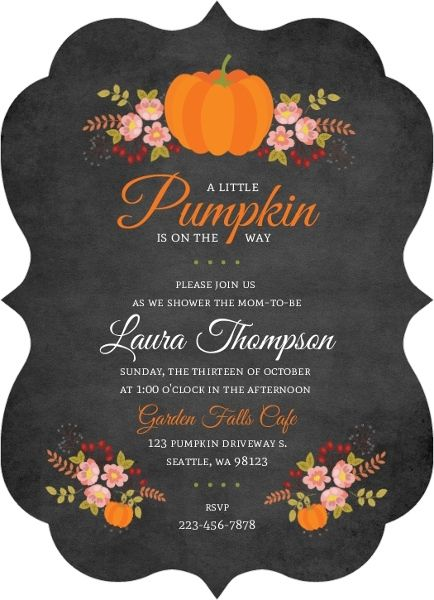 Floral Pumpkin Baby Shower Invitation from Invite Shop…