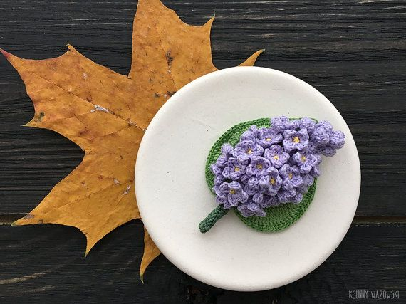 Lilac Brooch lilac flower women gift Wedding by ksunnywazowski