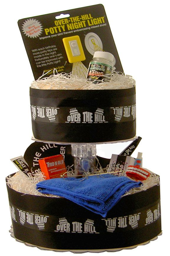 Diaper Cake Over The Hill Theme Hilarious Birthday Gag
