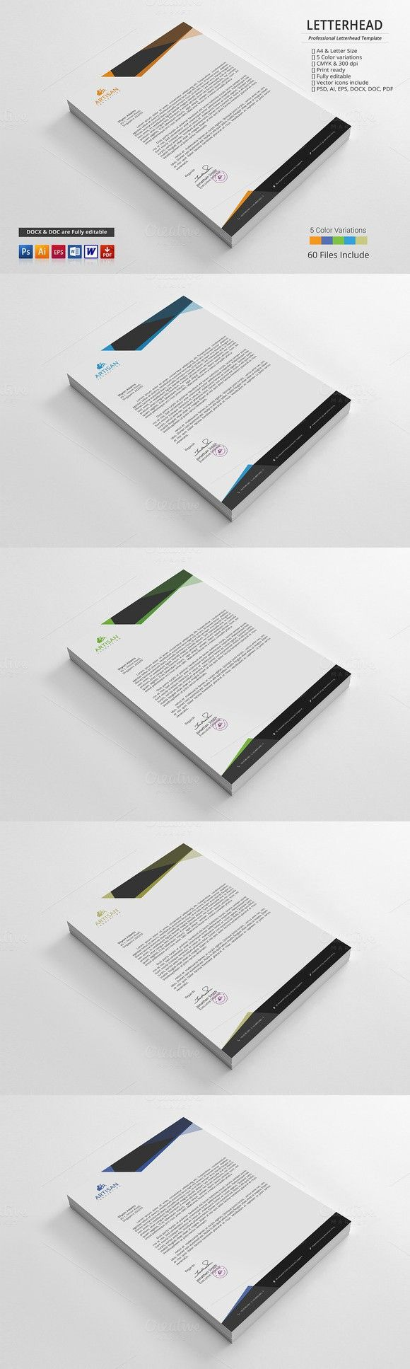 Letterhead. Stationery Templates