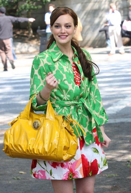 Blair dresses in yellow