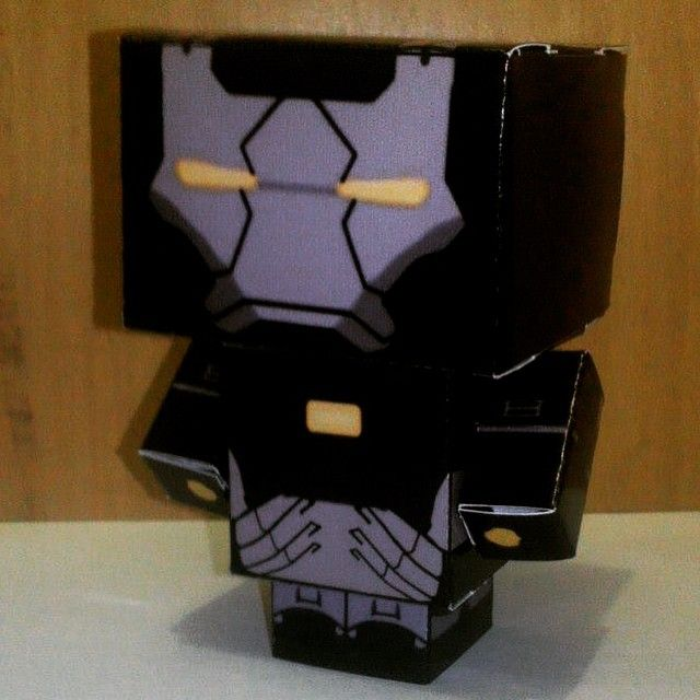 Ironman Black - My Cubecraft Collection  #CubeCraft #CubeDoll #Craft #KerajinanTangan #Koleksi #Collection #Ironman #IronmanBlack #PapperCraft