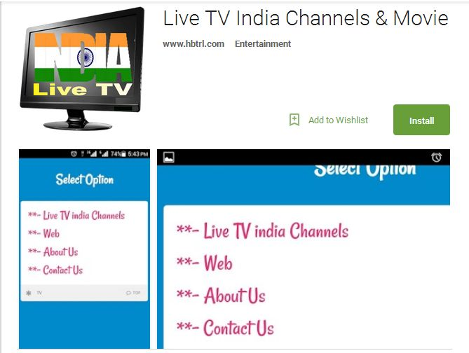 Watch Live India TV channels for free on different Android and Smartphones. Live India TV is an entertainment app to watch online latest regional television, movies, TV shows & programme tv , videos and many more absolutely free. Install today from Google play store!