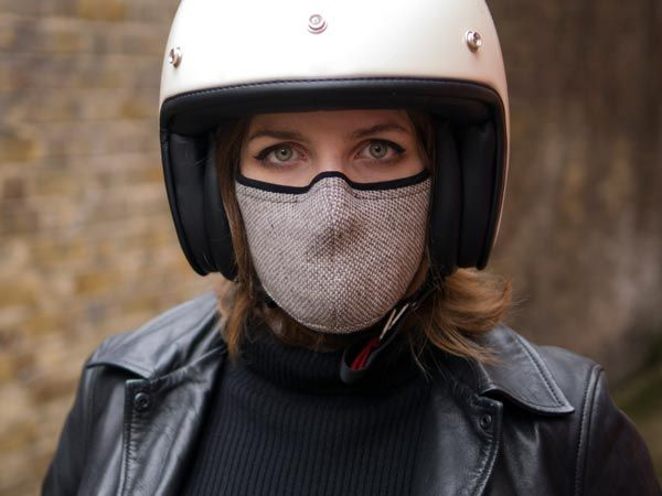 masque scooter anti pollution