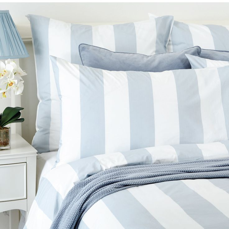 300 thread count Lille Quilt Cover Set in Chalk Blue in Queen $161.40 (40% off!)