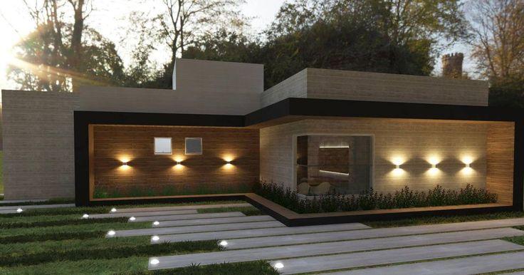 25 melhores ideias sobre fachadas de casas terreas no for Casa moderna todos santos