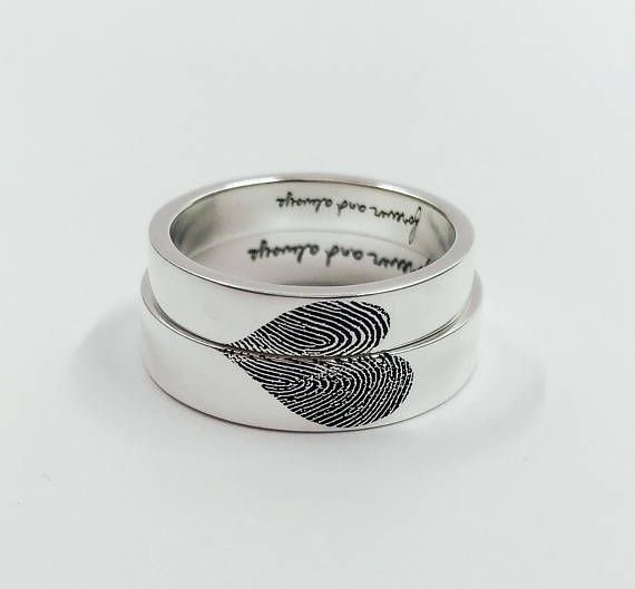 NEUE offene 20 % Sale: Herz-scharf Fingerabdruck Ring/hohe #SterlingSilverWedding