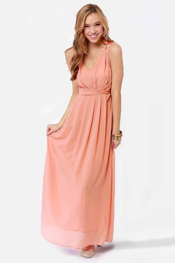 17 Best ideas about Peach Maxi Dresses on Pinterest   Peach ...