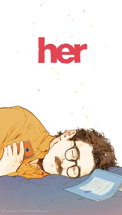 Her (2013) I enjoyed this movie. I liked the palette of colours and I thought some moments of this movie were funny and heartfelt. 8/10