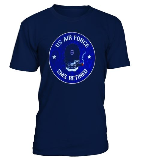 AIR FORCE SENIOR MASTER SERGEANT RETIRED DISTRESSED T-SHIRT