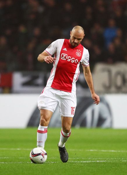 Heiko Westermann of Ajax in action during the UEFA Europa League Group G match between AFC Ajax and Panathinaikos FC at Amsterdam Arena on November 24, 2016 in Amsterdam, Netherlands.