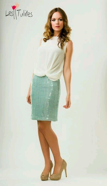falda verde mint