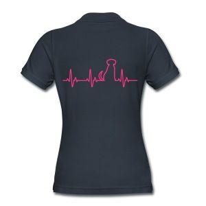 Herzschlag Hund - Frauen Poloshirt - Frauen Bio-Poloshirt von Stanley & Stella