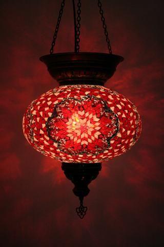 Crimson Star Turkish Lamp