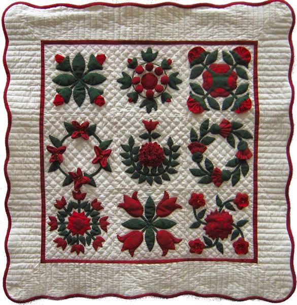 Intermediate Quilting Patterns : Little Baltimore Bouquet Quilt Pattern JT-102 (intermediate, throw) Sew/no sew projects ...