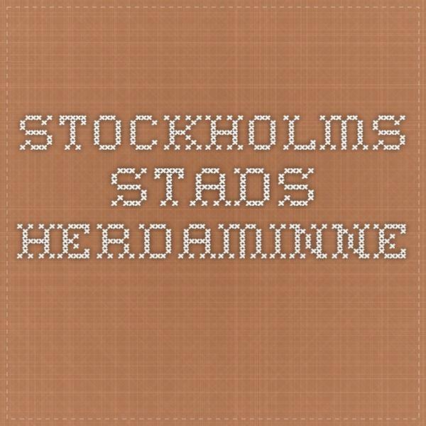 STOCKHOLMS STADS HERDAMINNE
