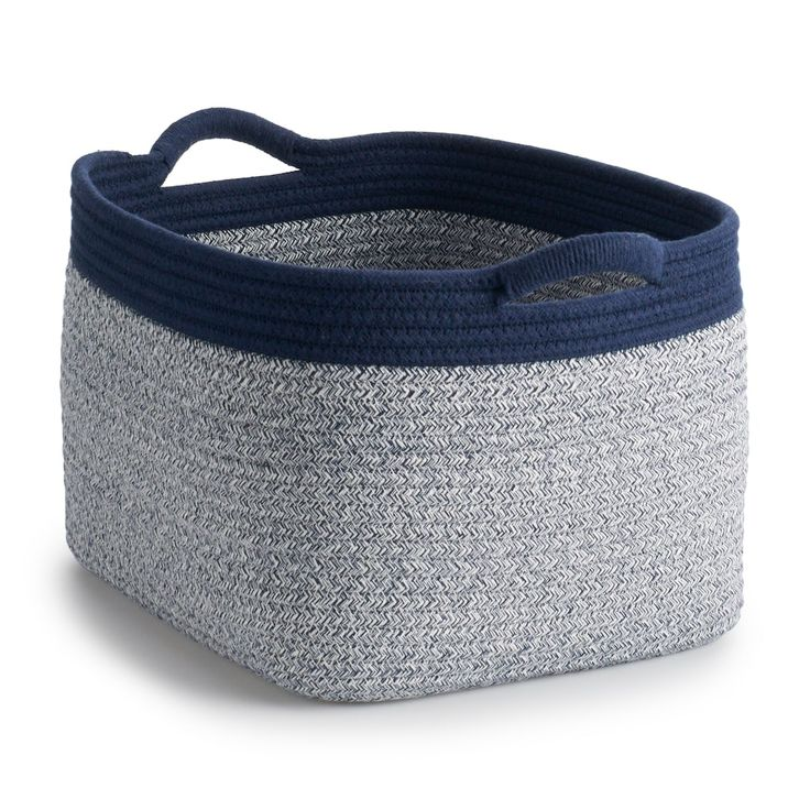 Basketville Coiled Rope Laundry Basket In 2020 Coiled Rope Rope Basket Basket