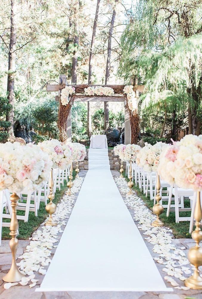 30 Beautiful Wedding Aisle Decoration Ideas Wedding Ceremony