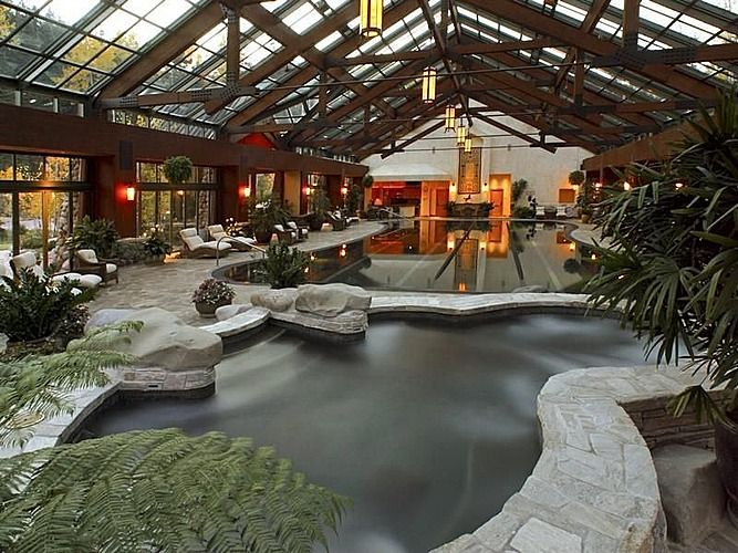 indoor pool log cabin homeslog