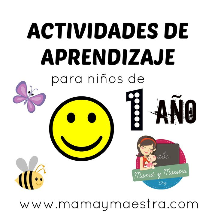 Actividades de aprendizaje para niños de 1 año
