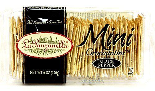 La Panzanella Black Pepper Mini Croccantini 6-Ounce Packages (Pack of 12). 659000406031. La Panzanella.