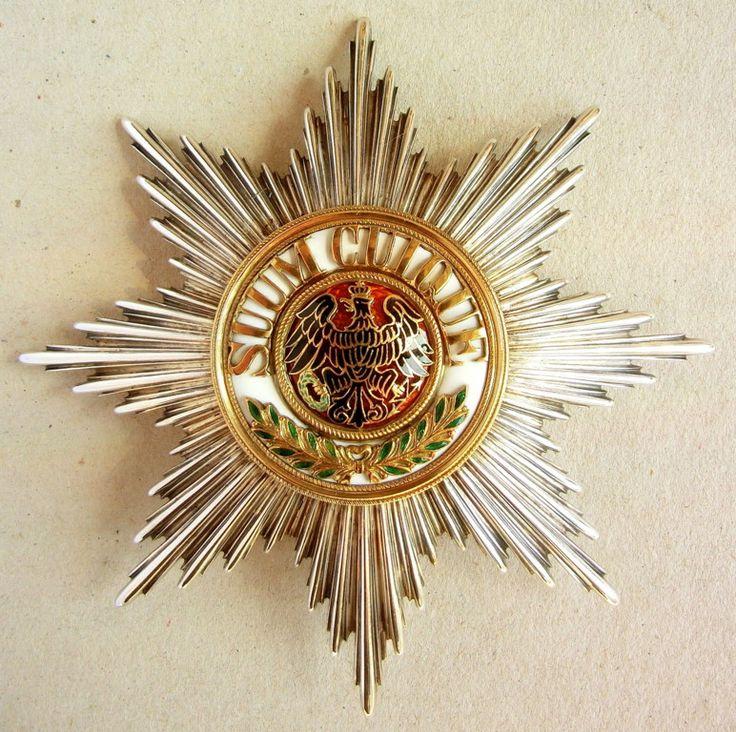 Der Hohe Orden vom Schwarzen Adler Bruststern zum Kreuz