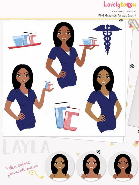 Woman Nurse Character Clipart Girl Care Giver Healthcare