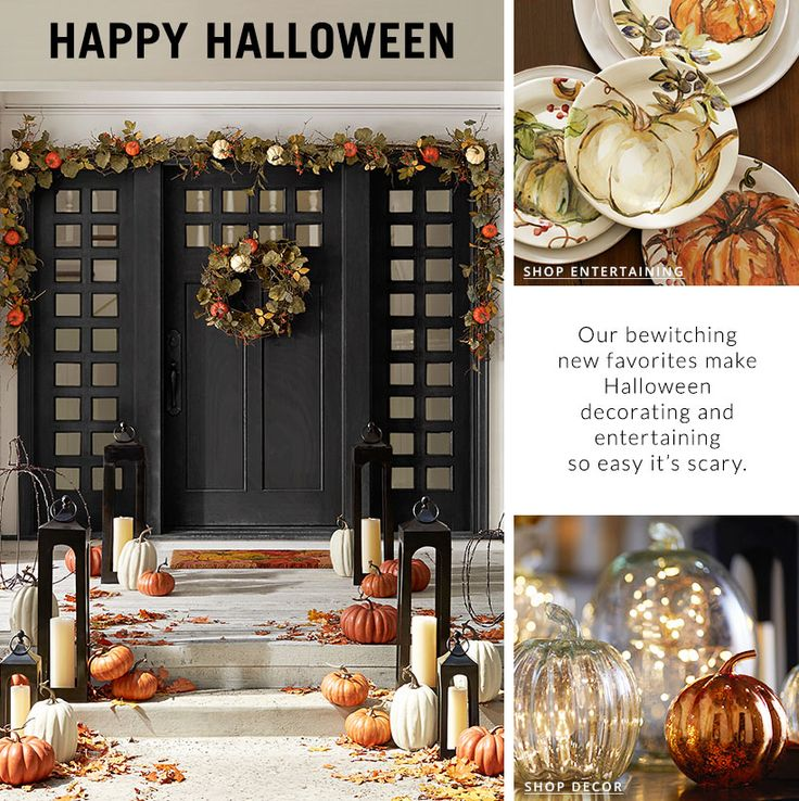 pottery barn 2016 diy inspiration love this front door and porch - Pottery Barn Halloween Decorations