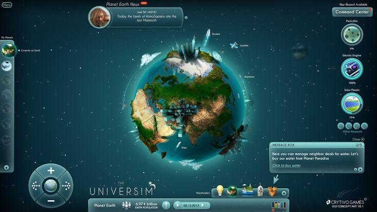 The Universim Game UI Concept by Koshelkov on DeviantArt