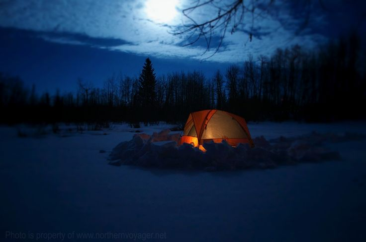 Canada Winter Camping Travel Northern Photography Image Beautiful North Moon Light www.northernvoyager.net Photo by Lee Mailer