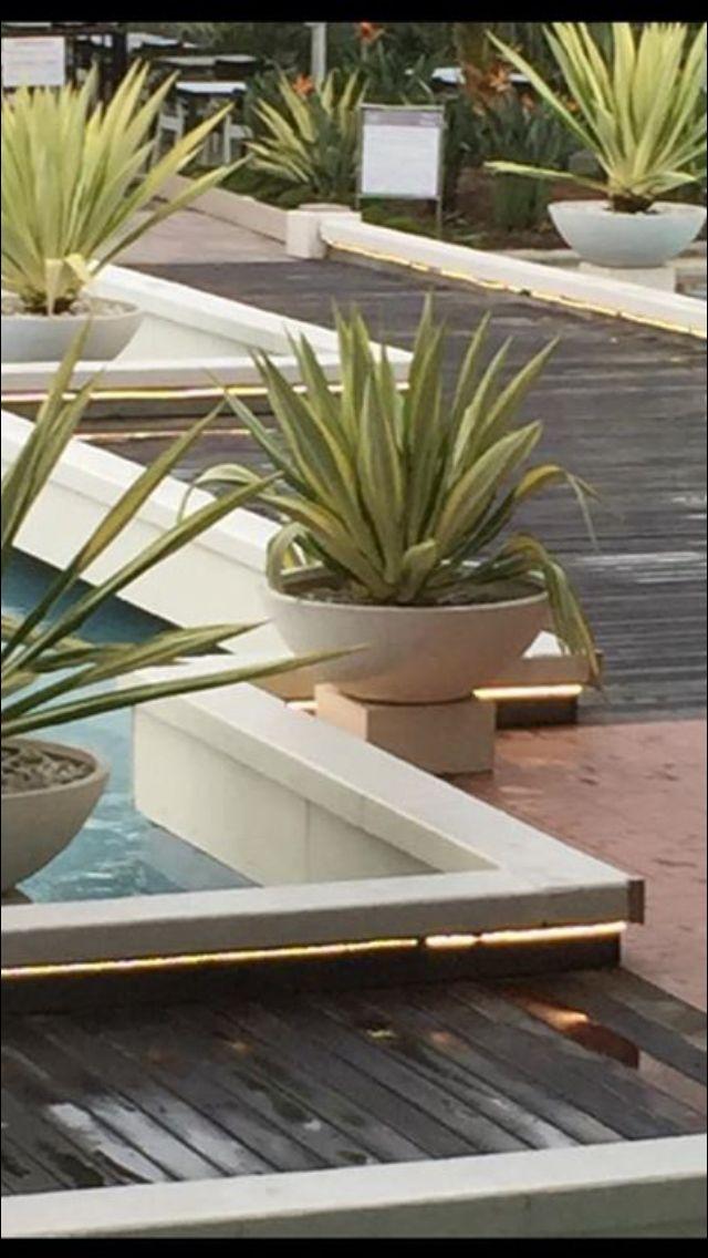 Low Bowl - light weight terrazzo in 'white finish' #www.potsonline.com