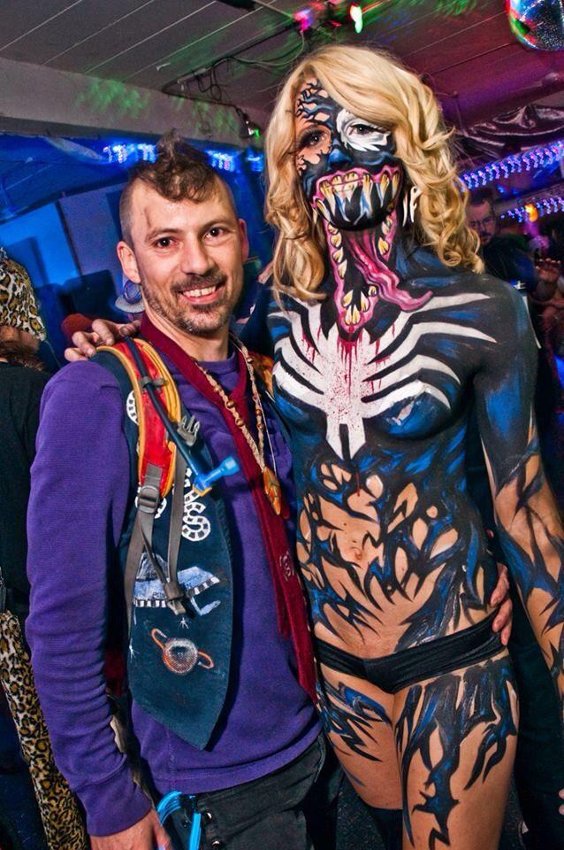 Venom body paint Halloween Ashley Simone | Makeup ...
