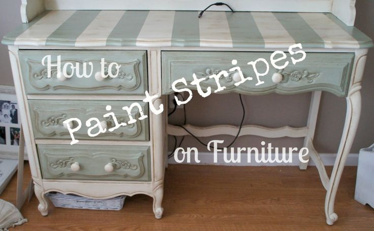 How to paint stripes on furniture by asundaynoon just - Painting stripes on furniture ...