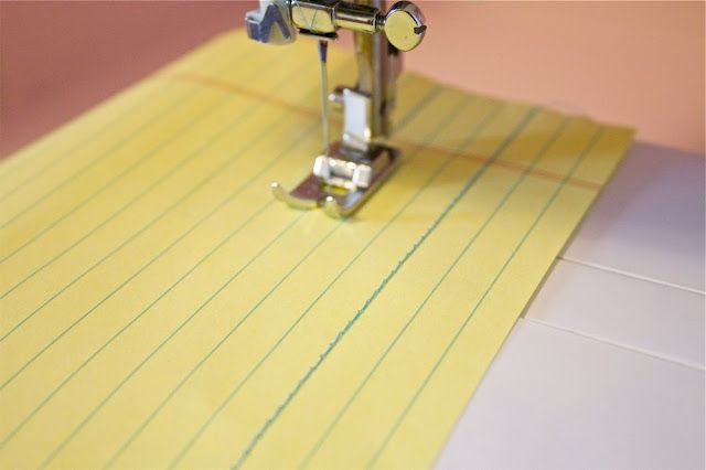 Teach yourself how to sew a straight line with step by step instructions. I great tutorial with many helpful suggestions.