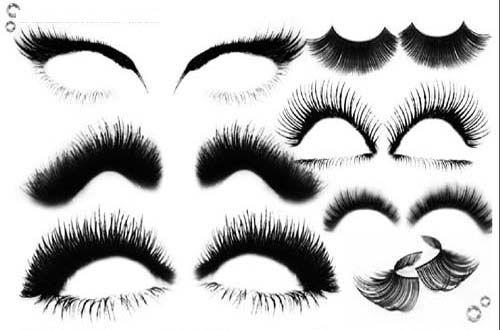 27 Sets Of Free Eye Brushes For Photoshop (eyelash,iris,eyeshadow,eye line)