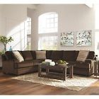 CHOCOLATE BROWN TEXTURED VELVET CORNER SOFA SECTIONAL LIVINGROOM FURNITURE SALE  Price 1049.0 USD 0 Bids. End Time: 2017-03-22 12:10:09 PDT