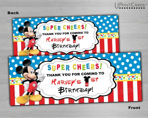 DIY Printable Treat Bag Toppers Mickey Mouse by ...
